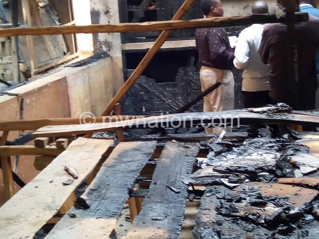 Inside one of the shops that got razed down | The Nation Online