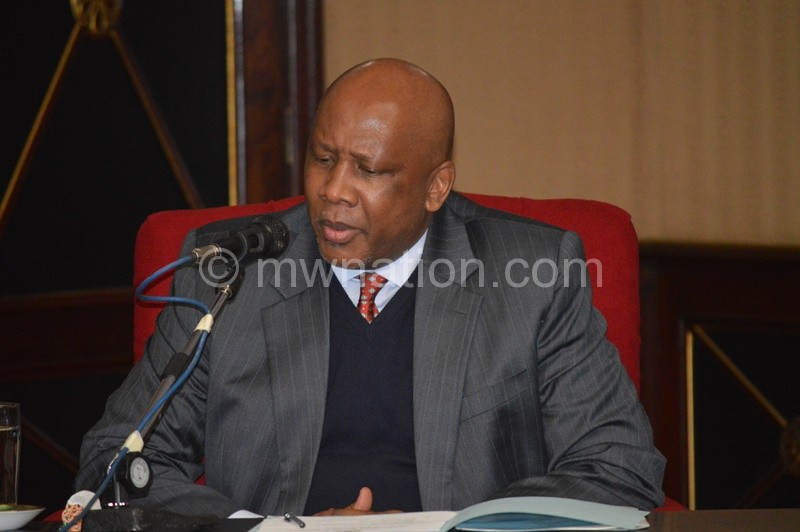 King Letsie III of Lesotho who is also AU and FAO Ambassador for nutrition commends Malawi over the countrys fight against malnutrition. Photo by Fatsani Gunya | The Nation Online