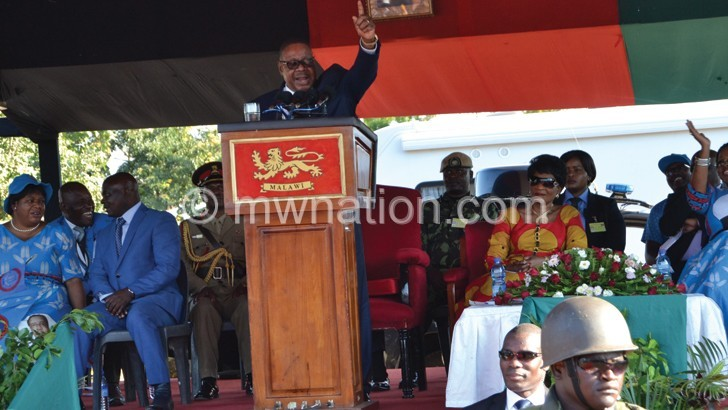 Mutharika calls Chilima  supporters disgruntled