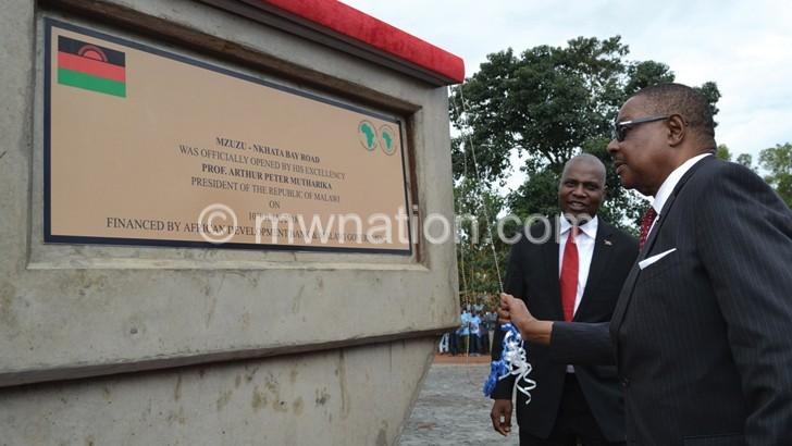 APM opens Mzuzu-Nkhata Bay Road