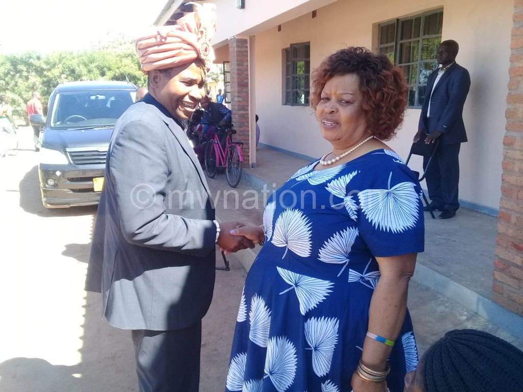 Paramount Chief Ngolongoliwa captured with Senior Chief Chikumbu   The Nation Online