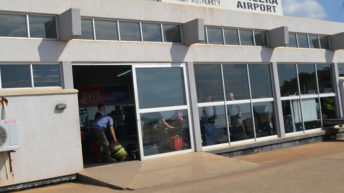 Chileka Airport using  city council fire engine