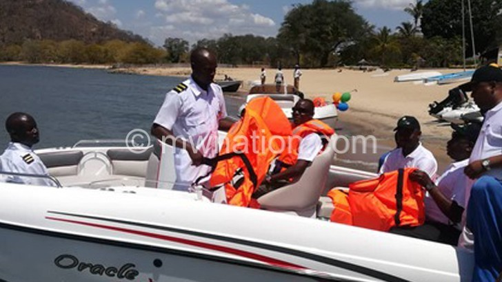 Kasaila samples one of the speed boats | The Nation Online