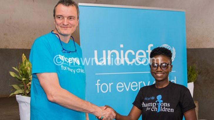 Unicef brands Sangie children's champion
