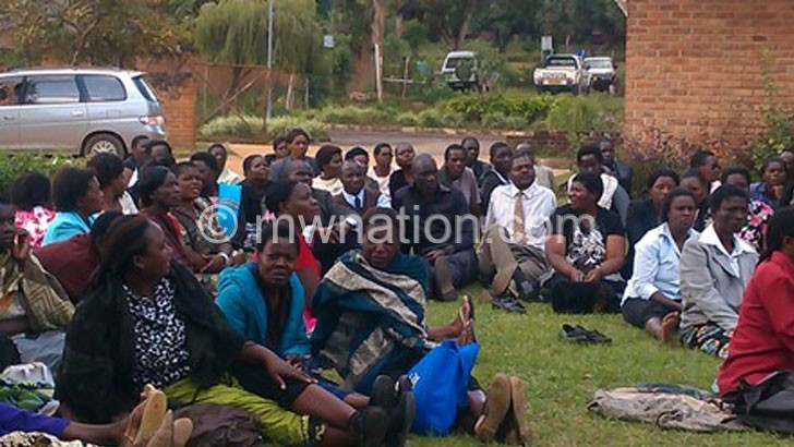 Teachers on strike in this file photo | The Nation Online
