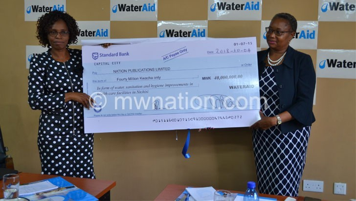 WATERAID DONATION | The Nation Online