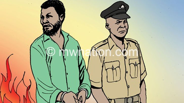 An artist's illustration of an arrest | The Nation Online