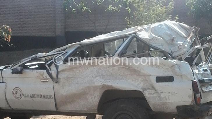 MAP damaged vehicle | The Nation Online