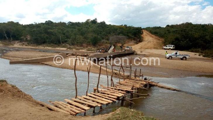 Works on Chakazi Bridge progress at snail's pace