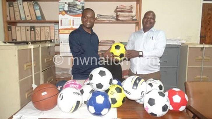 Ex-student donates balls to Ntcheu Sec