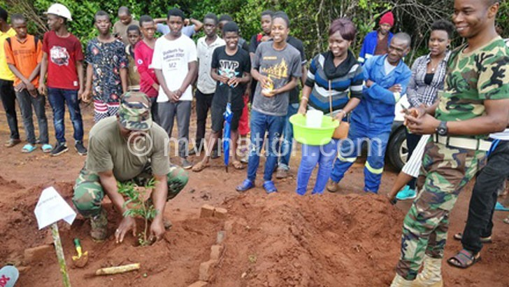 MAGOLA PLANTING A TREE | The Nation Online