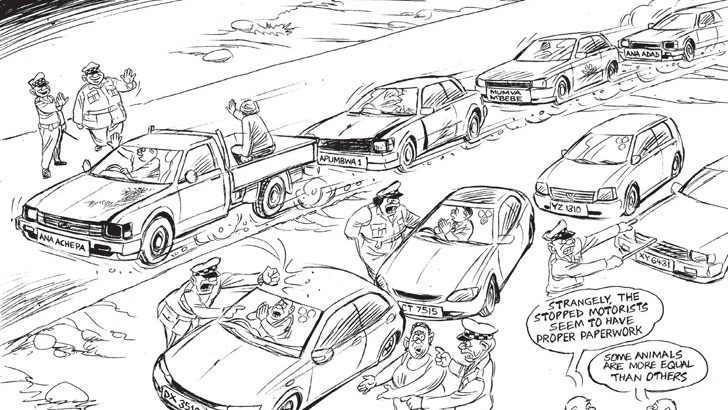 Party cohorts defy Road Traffic on 'Ana Adadi' number plates