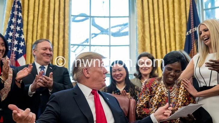 Trump fires up Machinga woman