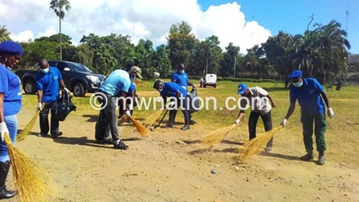 Youths clean Comesa Hall surroundings