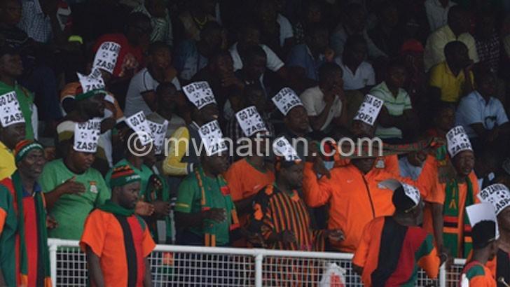 Zambia supporters eclipse U-23 match