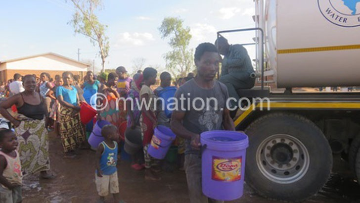 LWB distributing water | The Nation Online