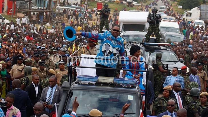 Mutharika in Mchinji | The Nation Online