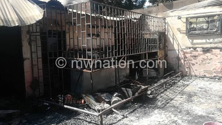 Fire guts Grand and Grill Bar in Chirimba