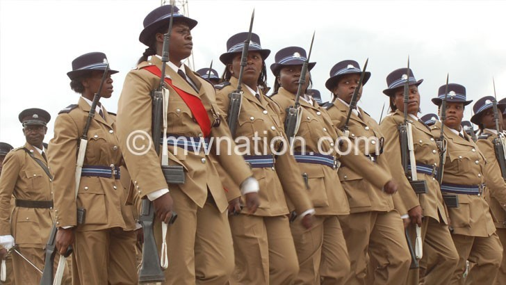 Police Officers parade | The Nation Online