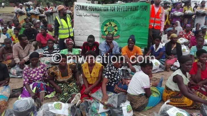 NGO donates K3.1m relief items to Phalombe flood victims