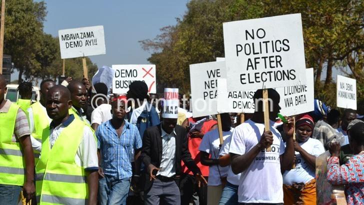 Lilongwe vendors protest demos