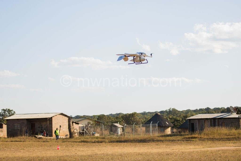 Drone taking off after | The Nation Online