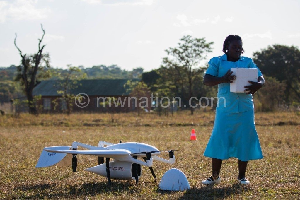 Eliza Pemba with drone | The Nation Online