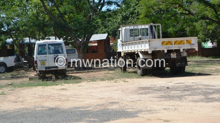 Grounded vehicles at Nsanje hospital | The Nation Online