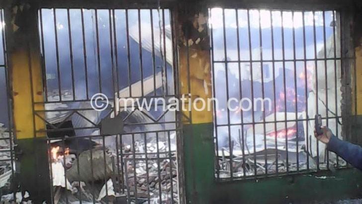 Fire guts Salima Kulima Gold shop