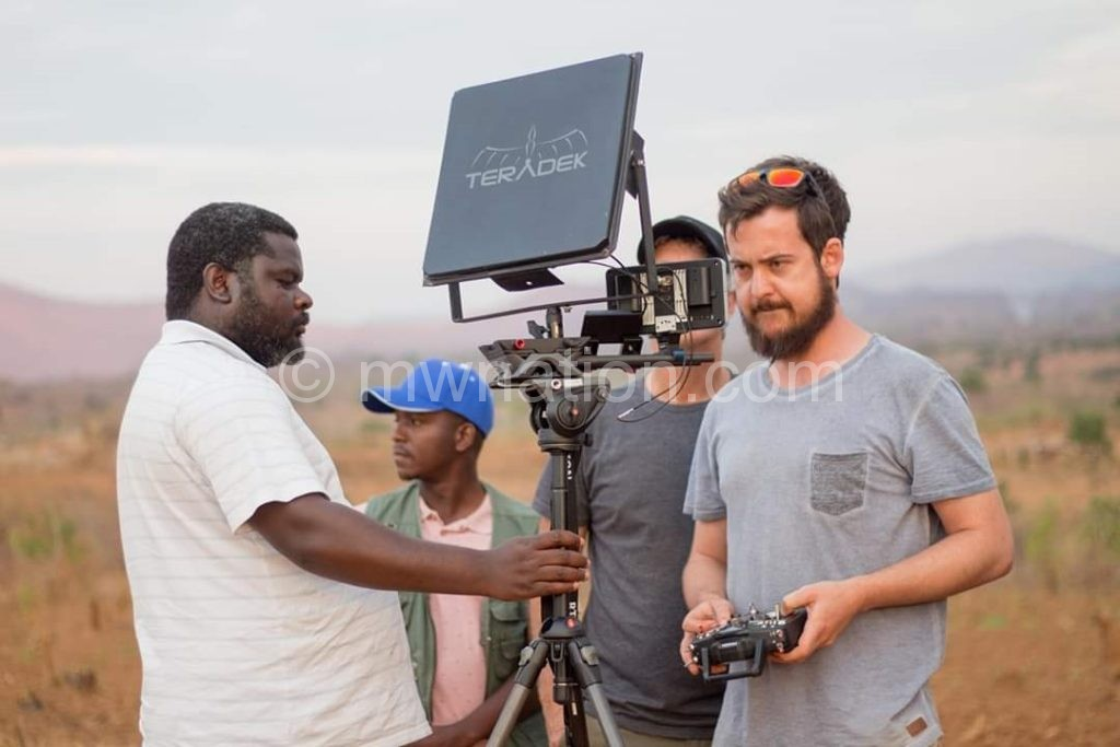Sukez and crew on set | The Nation Online