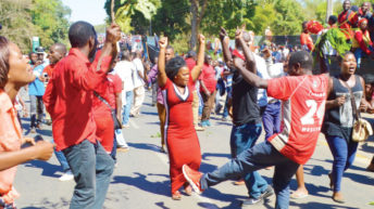 Demos give protesters entertainment
