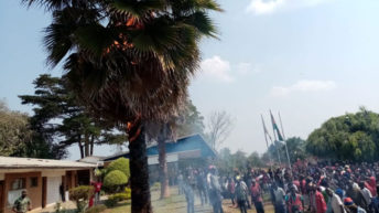 Protesters stone organisers