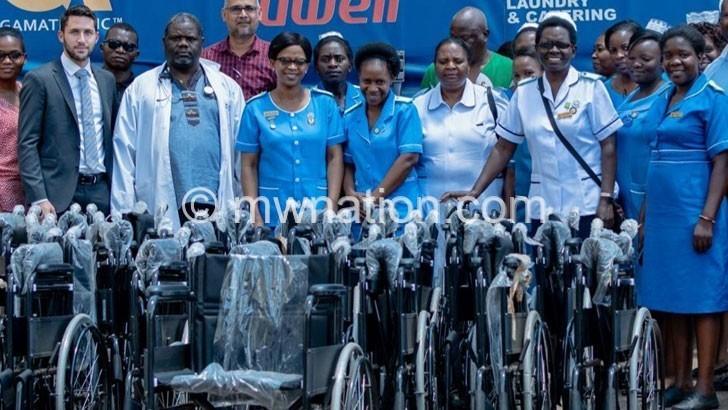 Body donates wheelchairs to Kamuzu Central Hospital