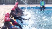 Teaching children  survival swimming