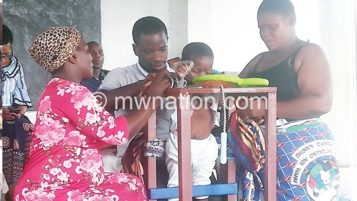 Women's group donates to children with disabilities