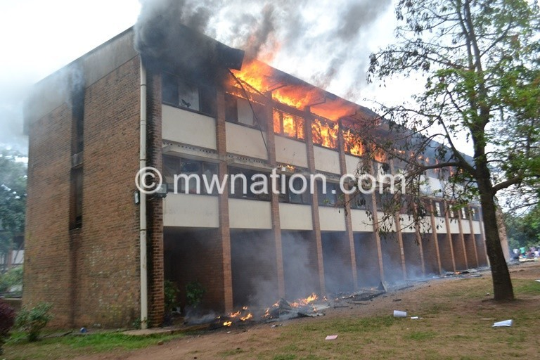 Nyika Hostel on fire at Poly | The Nation Online