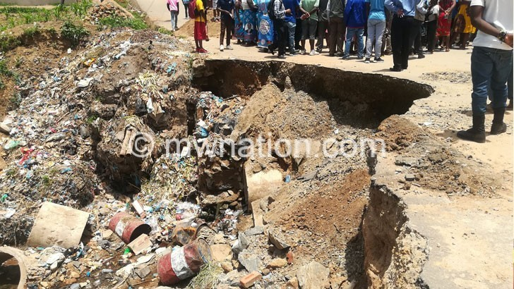 road damage   The Nation Online