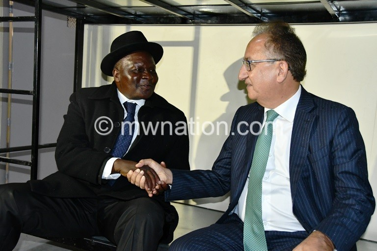 Dausi L and Anadkat in the new prison cell block. Photo by Fatsani Gunya 2 | The Nation Online