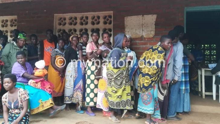 votting queue | The Nation Online