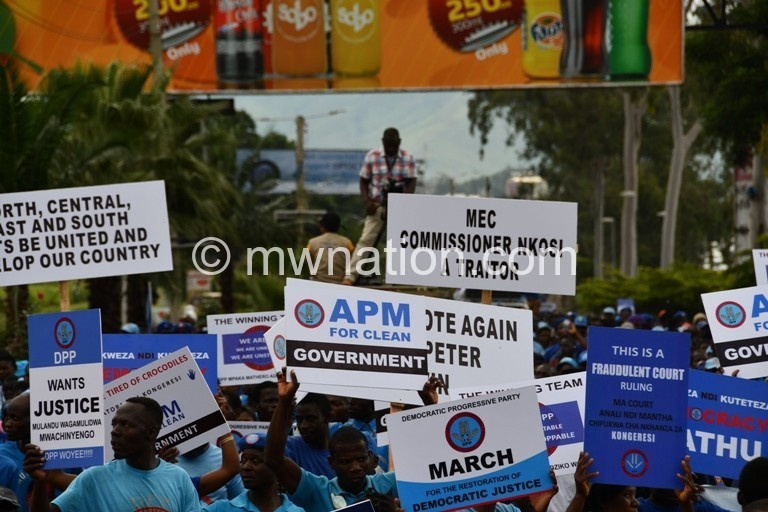 DPP protestors | The Nation Online