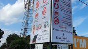 Advertising agency erects corona messaging billboards