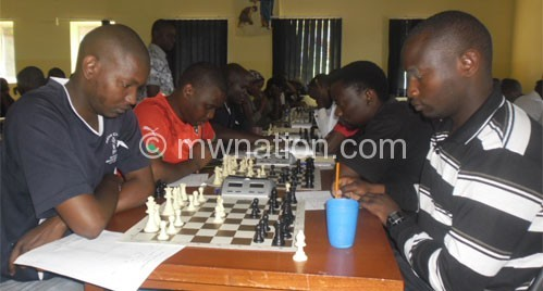 Players cracking their brains in a previous  competition